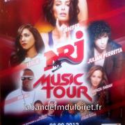 2012. affiche NRJ Music Tour à Orléans.