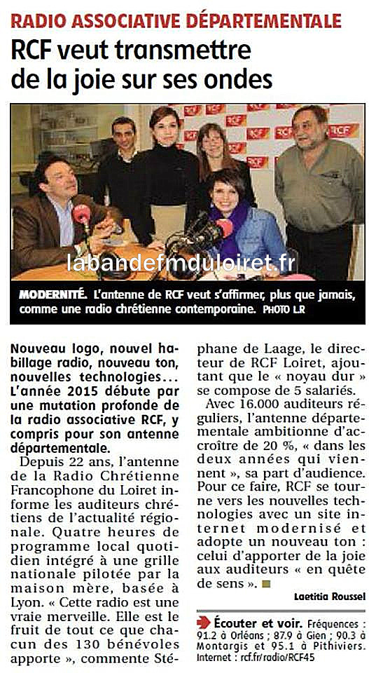 article de presse RC 7 janv. 2015