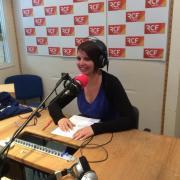 2015. la journaliste Blandine à l'antenne