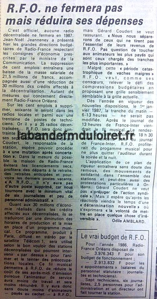 article de presse RC fin septembre 1986