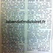 article de presse RC fin septembre 1986