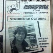 soirée NRJ en discothéque/ octobre 1986