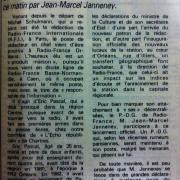 article de presse RC / 13 septembre 1986
