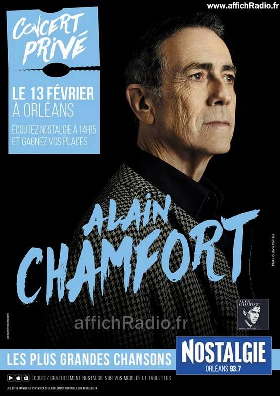 concert privé d' Alain Chamfort à Orléans le 13 fevrier 2016