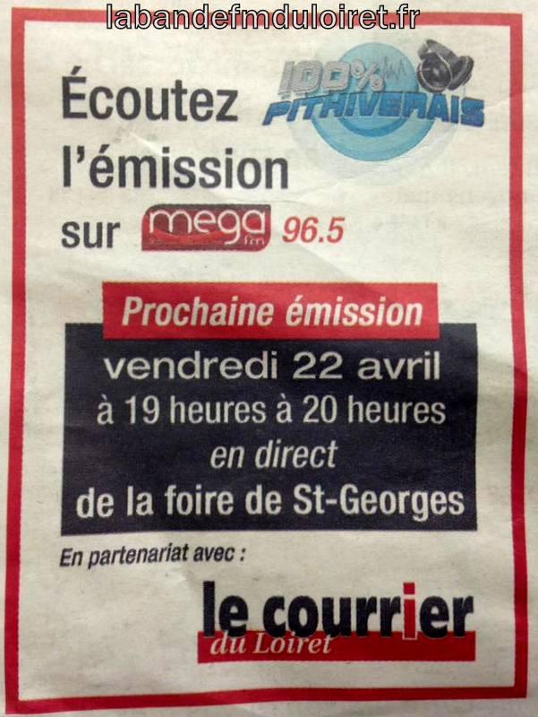 """publicité dans """"le courrier du Loiret"""", avril 2016"""