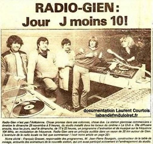article de presse novembre 1981 (Le Journal de Gien)