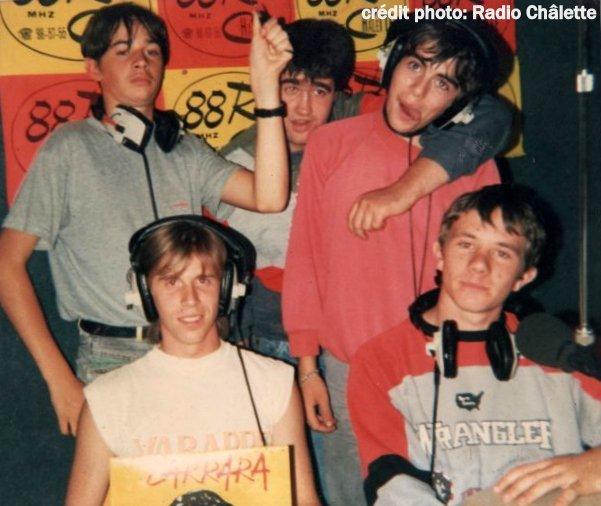 Dans les studios en 1988