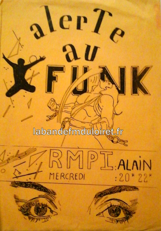 """affiche pour une émission de musique """"funck"""""""