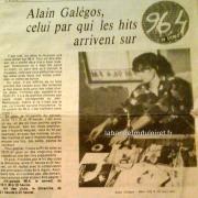 article de presse RC pour Alain Gallegos (hit parade)