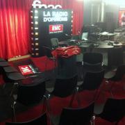 préparation du studio des grandes gueules,à la FNAC