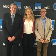 24 avril 2018 , visite de la présidente de Radio France Sybile Veil