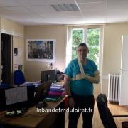 Stéphane Kusosky dans les locaux de RCF Loiret