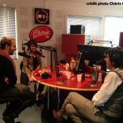Régis Leroy avec Calogéro lors d'une matinale spéciale ( nov.2012)