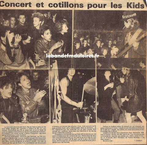 concert rock fin 1984 à Orléans