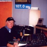 Philippe Doiteau, le fondateur de la radio dans le studio (2012)