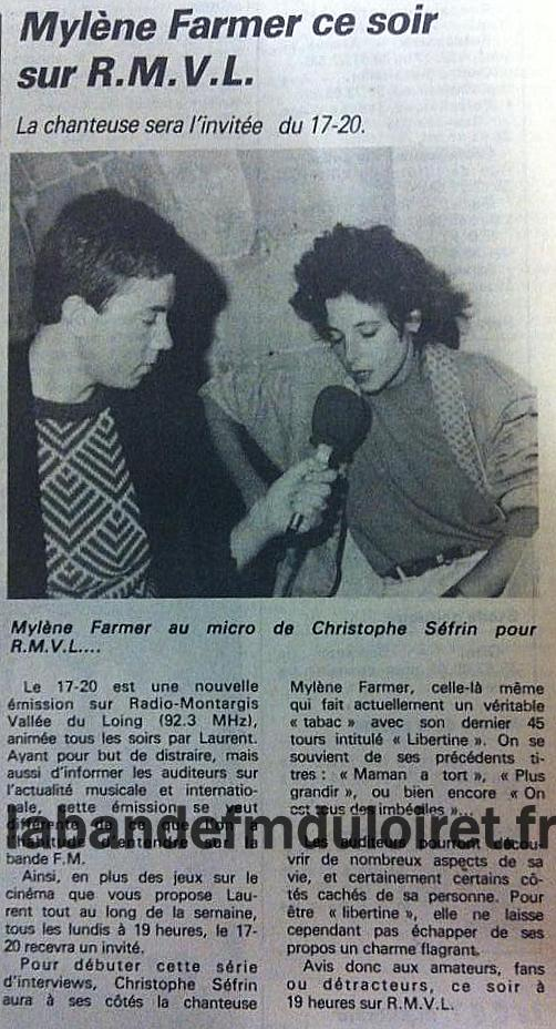 article de presse RC / octobre 1986