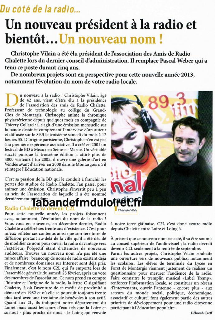 bulletin municipal de la ville de Châlette, mars 2013