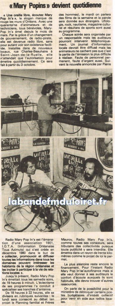 article de presse RC fin septembre 1981