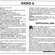 article de presse NR 20 déc.1984
