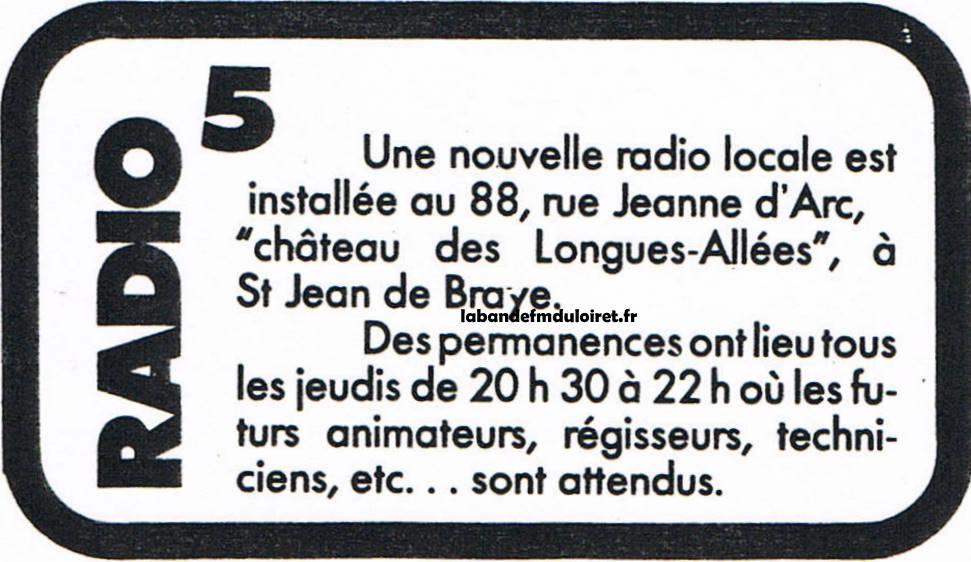 publicité pour recruter des volontaires en sept.1982