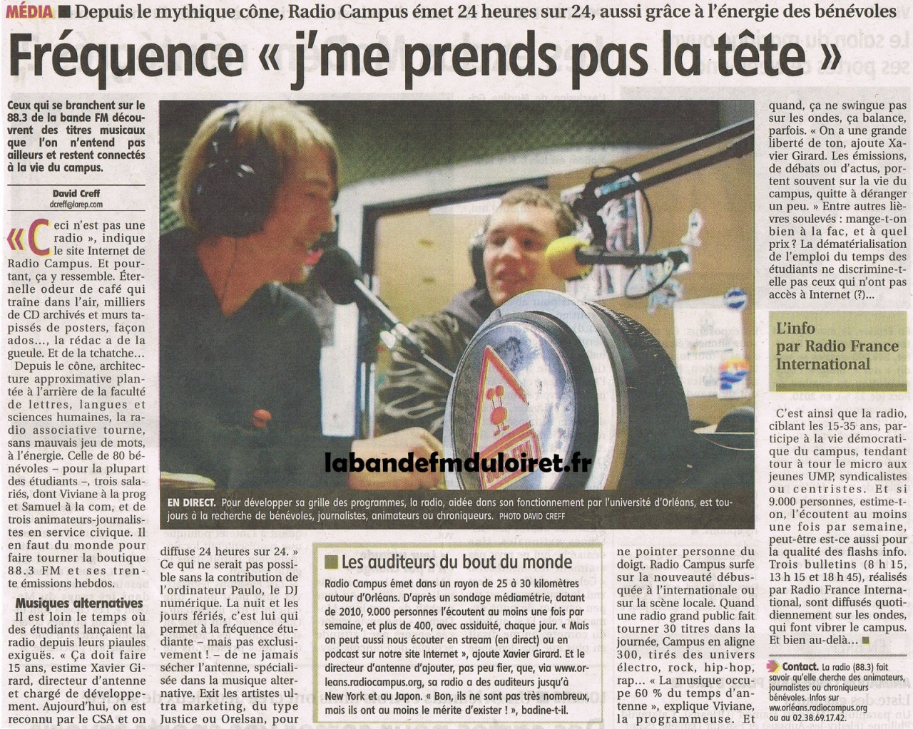 article de presse 3 nov. 2011