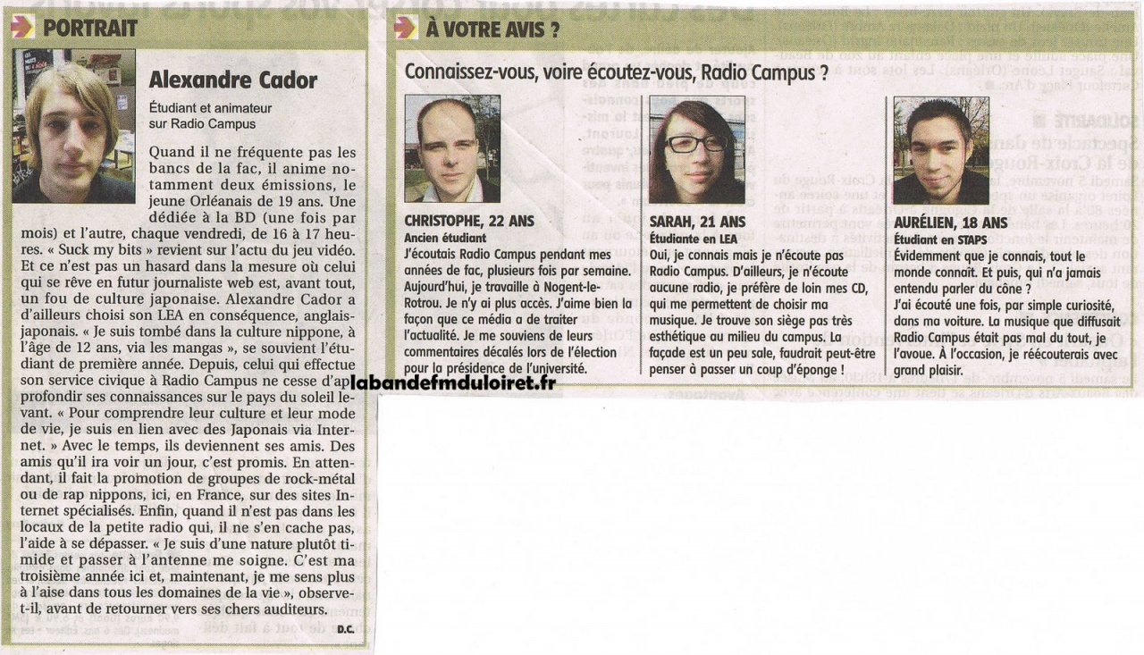 article de presse 3 nov. 2011 (suite)