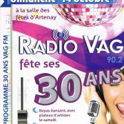 affiche des 30 ans de la radio avec les festivités