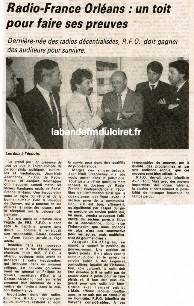 article de presse RC / 15 septembre 1986