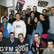 l'équipe en 2008 dans ses anciens studios, rue de Glatigny