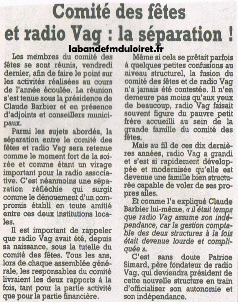 article de presse 2001