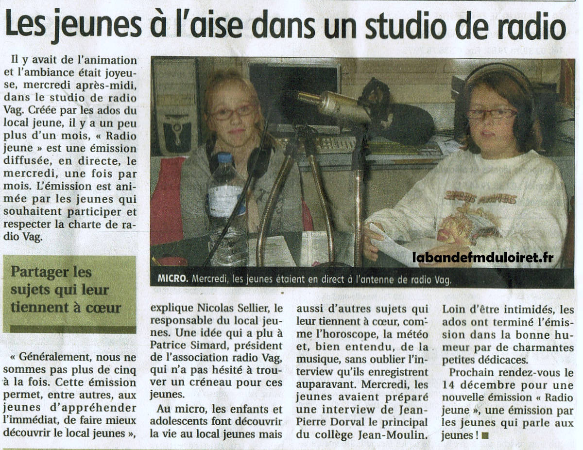article de presse 25 nov 2011