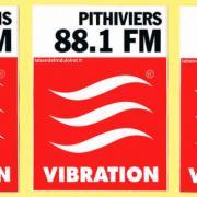 autocollants Vibration avec fréquences des villes du Loiret