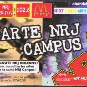 carte NRJ campus édition 1999/2000