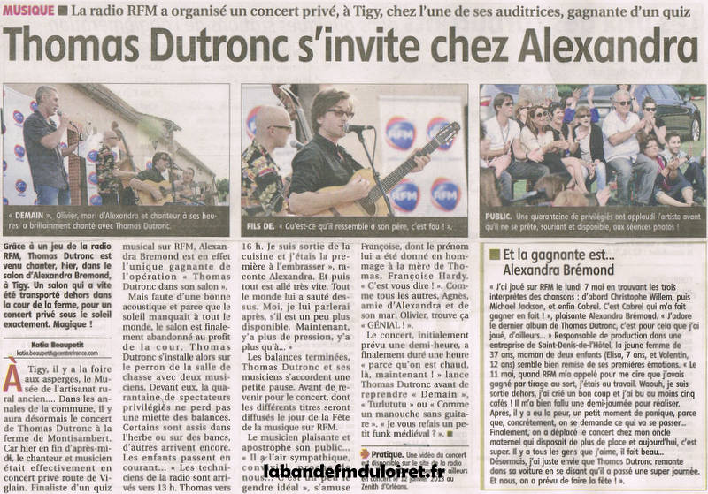 article  de presse 15 juin 2012