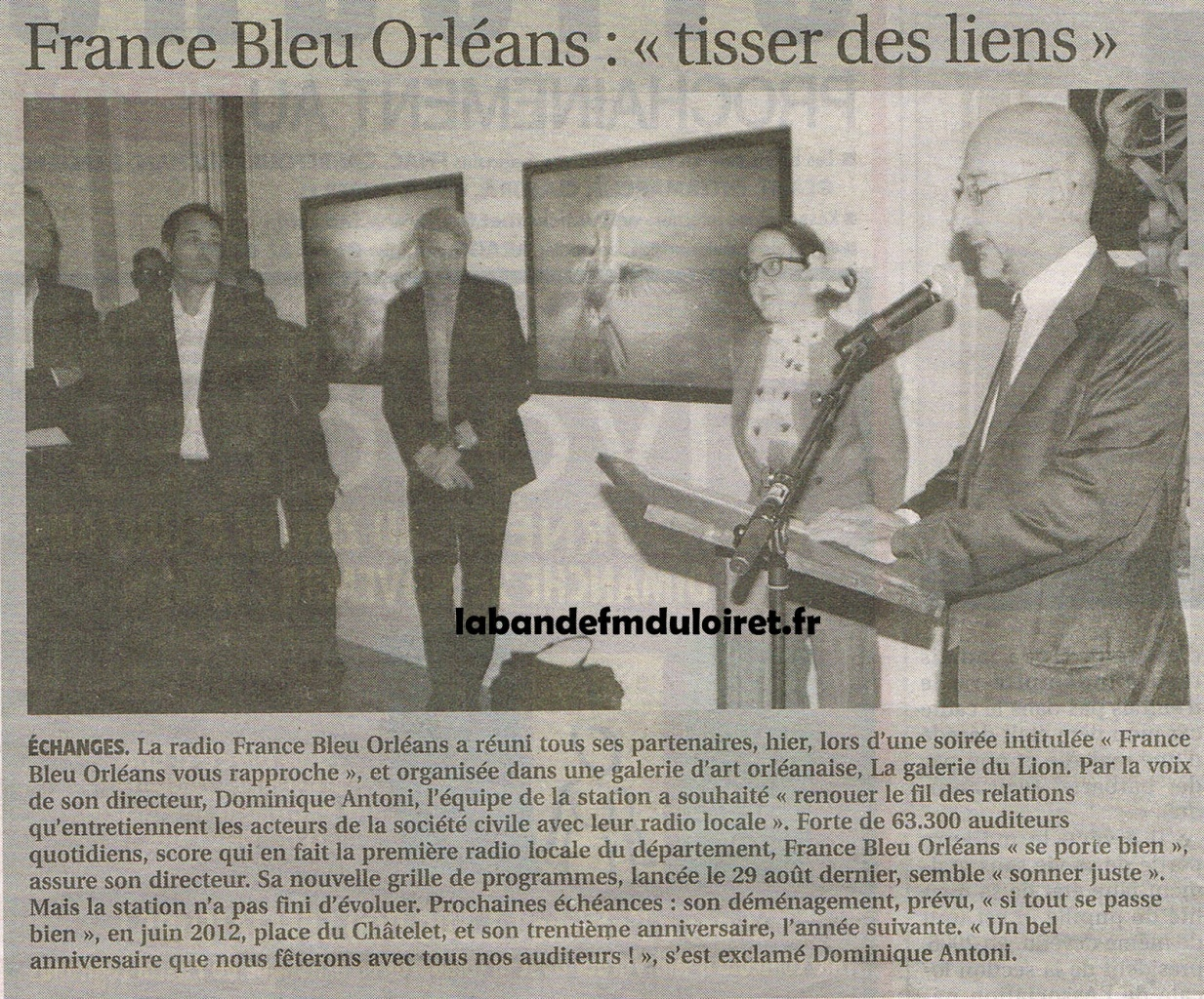 article de presse 6 nov. 2011