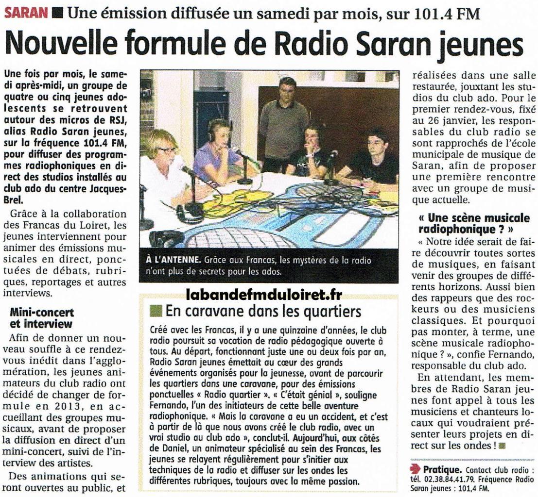 article de presse RC 18 janvier 2013