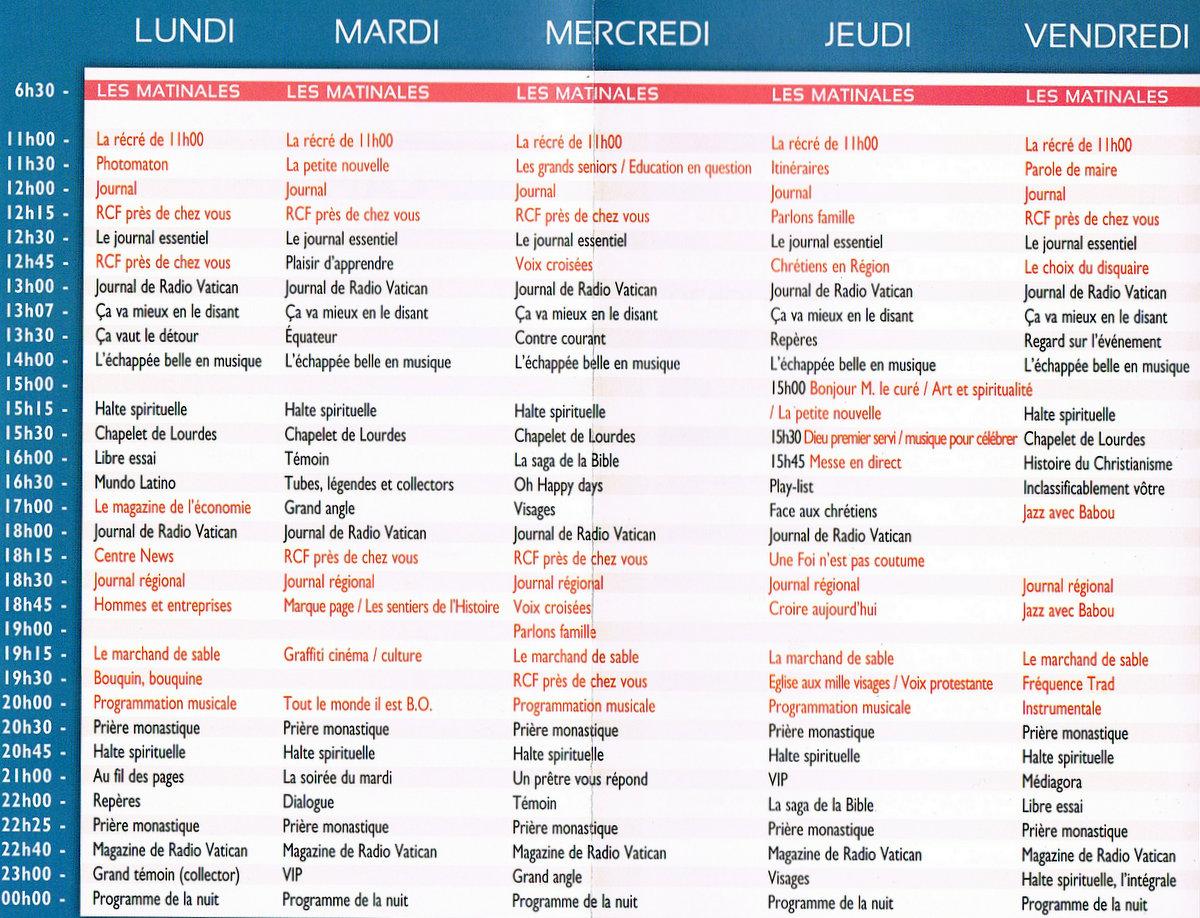 grille des programmes saison 2013/14
