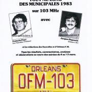 publicité pour les élections municipales 1983