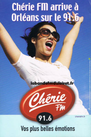 publicité juin 2008 pour l'arrivée de Chérie FM sur Orléans