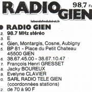 l'annuaire national de la FM 1987