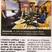 article de presse de La République du centre 27 septembre 2012