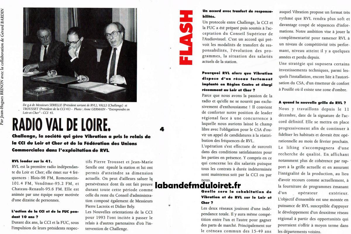 Article de Vibration Zoom (début 1993)