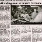 article de presse de La République du centre 29 septembre 2012