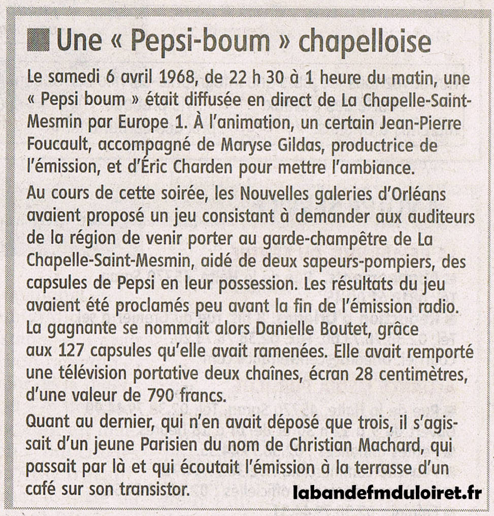 article de presse RC 30 avril 2012