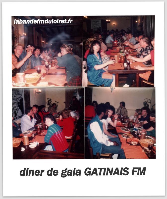 """Diner d'après le gala au """"relais du miel""""à Mormant sur Vernisson ( juil 1983)"""