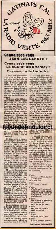 article de presse Publi7 du 30 aout 1983