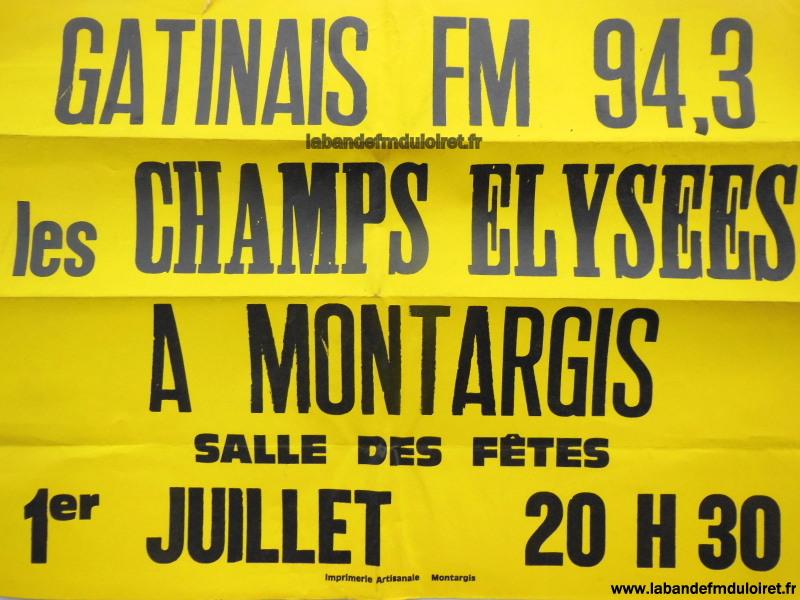 """affiche pour la soirée de gala """"Champs Elysées à Montargis"""" (1er juil.83)"""