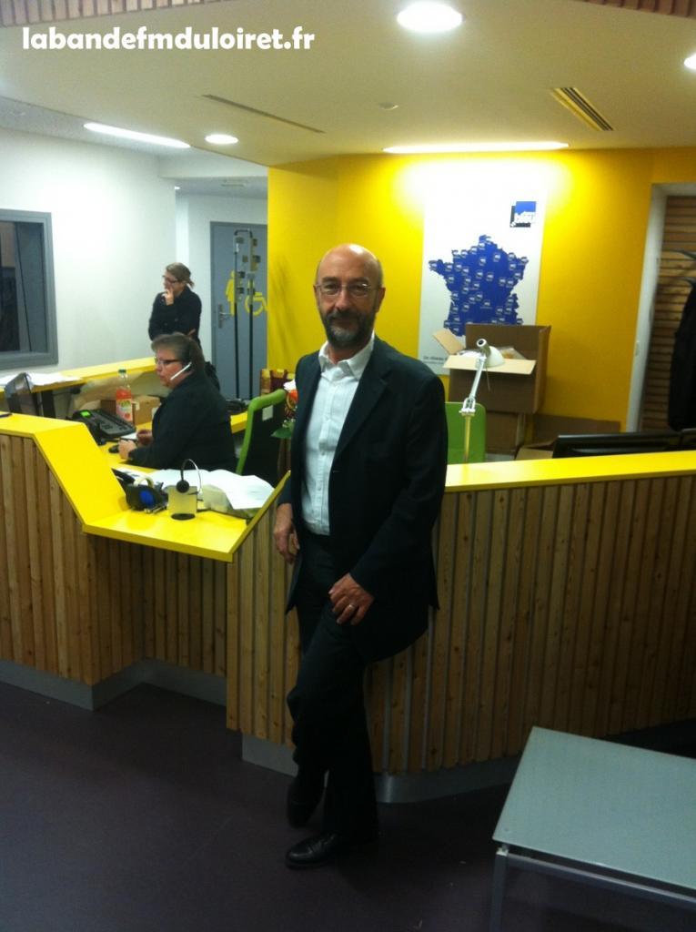 Mr Dominique Antoni ,le directeur,dans ses nouveaux locaux