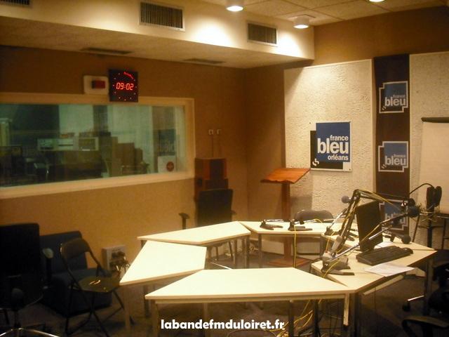Le second studio (avec la régie derrière la vitre)