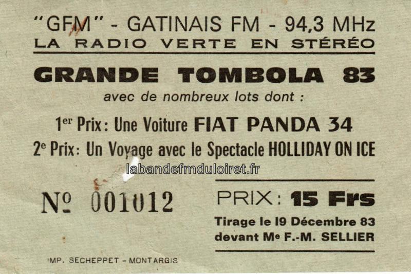 billet de tombola 1983